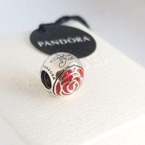 Pandora Belle Enchanted Rose Charm Silver 924 Ale